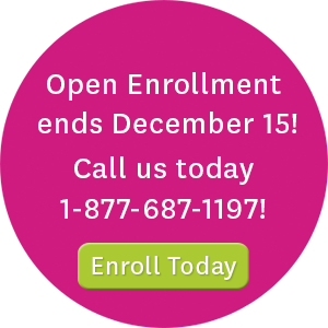Open enrollment ends December 15! Call us today at 1-877-687-1197 or visit WAHealthplanfinder.org to enroll today!